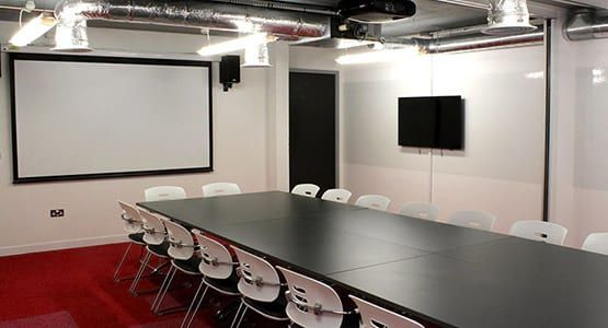 modern management boardroom with transparent walls