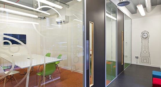 2 modern office space with diverse industry settings
