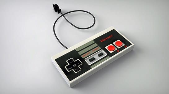 3d visualisation of a NES controller